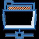 Connected Folder Folder Sharing Server Folder Icon