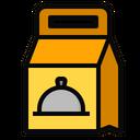 Paper Bag Food Cloche Icon