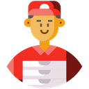 Food Delivery Man Avatar Courier Icon