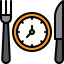 Food Time Lunch Time Break Time Icon