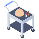 Food Trolley Cloche Food Serving Icon