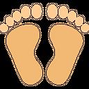 Footprint Human Trace Icon
