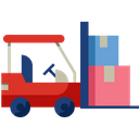 Forklift Transport Warehouse Icon
