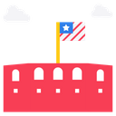 American Fort Historical Place Memorial Building Icon