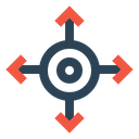 Four Way Direction Icon