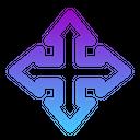 Four Arrow Move Arrow Road Directin Icon