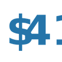 Fourty One Dollar Numbers Dollar Icon