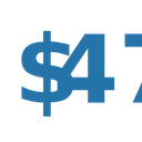 Fourty Seven Dollar Numbers Dollar Icon