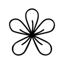 Frangipani Tropical Plant Icon