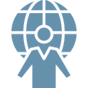 Agent Global Communication Tourism Icon