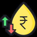 Fuel Price Fuel Price Increment Price Change Icon