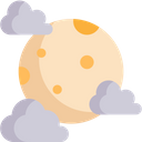 Full Moon Moon Phase Moon Craters Icon