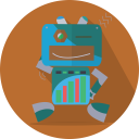 Fun Robot Mascot Icon