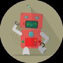 Fun Robot Mascot Icon