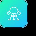 Galaxy Spaceship Universe Icon