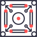 Carrom Indoor Game Icon