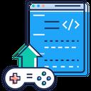 Game Publishing Uplink Uploading Icon
