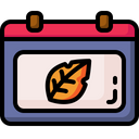 Autumn Calendar Time And Date Icon
