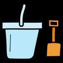 Shovel Gardening Bucket Gardening Tools Icon