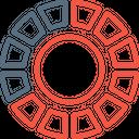 Gauge Chart Pie Icon