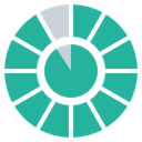 Gauge Chart Statics Icon