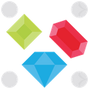 Gems Diamond Ruby Icon