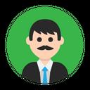 Gentleman Mister Moustache Icon