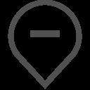 Geolocation Hide Minus Icon