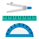 Geometry Divider Ruler Icon