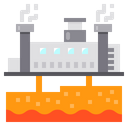 Geothermal Power Plant Icon