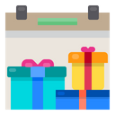 Calander Gift Box Party Icon