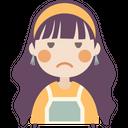 Annoyed Face Girl Icon