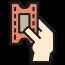 Ticket Hand Travel Icon