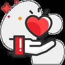 Giving Heart Medicine Health Icon