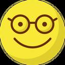 Glasses Face Emoticon Nerdy Face Emotion Icon