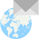 Email Worldwide Cyber Mail Global Communication Icon