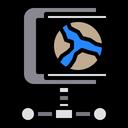 Compress Data World Icon