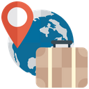 Global Delivery Logistics Location Services Icon