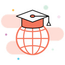 Global Learning Global Education Online Education Icon