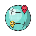 Global Connection Location Icon
