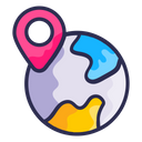 Map Navigation Wold Location Icon