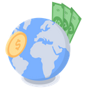 Global Money Foreign Exchange International Money Icon