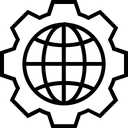 Internet Setting Wheel Icon