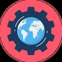 Globe Setting World Icon