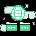 Global Data Global Folders Global Sharing Icon
