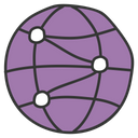 Global Sharing World Wide Sharing Global Network Icon