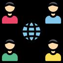 Global Global Team Global Group Icon