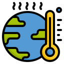 Global Warming Global Earth Icon