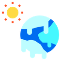 Global Planet Warming Icon