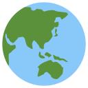 Globe Showing Asia Icon